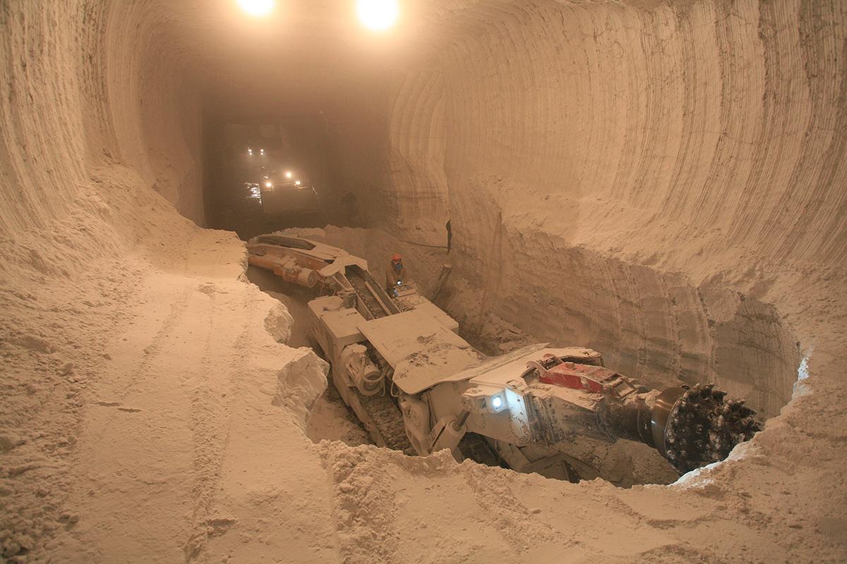 Гипсовый рудник Аksolit